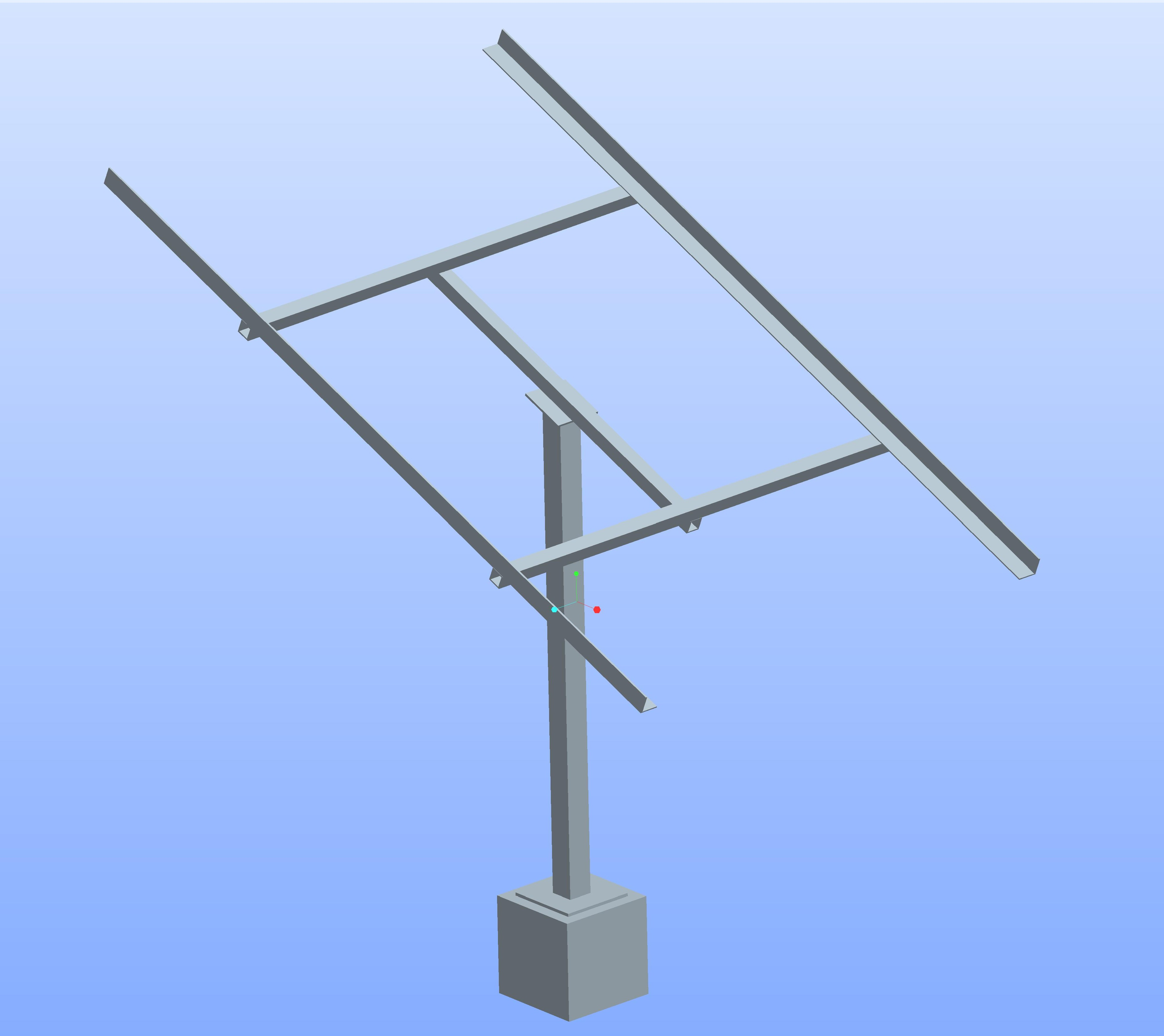 pole mounted structure
