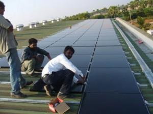 100KW rooftop solar plant at Rajamundhry, Andhra Pradesh
