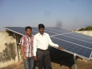 2.5KW rooftop solar plant at Chennai, Tamil Nadu